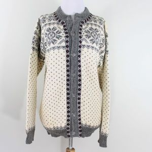 Dale of Norway Sweater Nordic Gray Cream Medium 50
